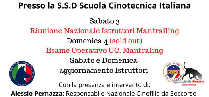 Riunione Istruttori Mantrailing ed esami operativi 3-4 Ottobre Grosseto