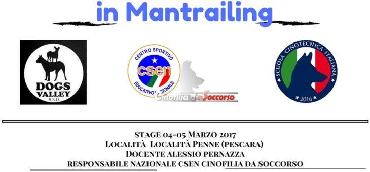 Stage di Mantrailing a Pescara 04-05 Marzo 2017