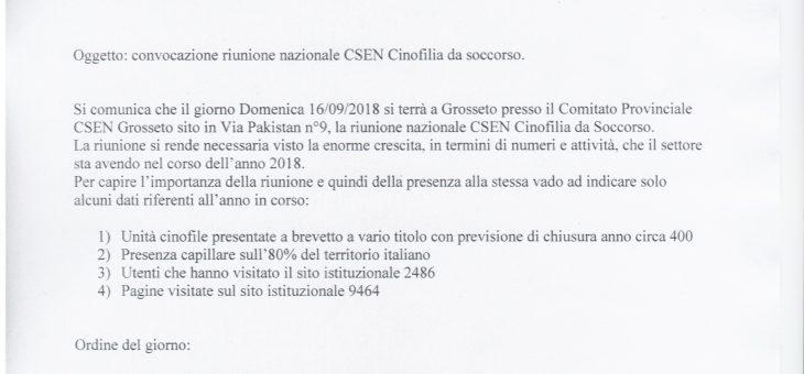 Riunione Nazionale CSEN Cinofilia da Soccorso