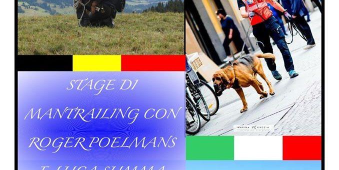 Stage di Mantrailing con Luca Summa e Roger Poelmans 20-22 Marzo Verbania